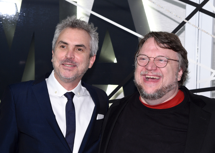 Alfonso Cuarón y Guillermo del Toro en la gala del MoMa.