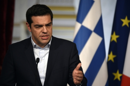 Greece's Prime Minister Alexis Tsipras  (Photo credit should read MARTIN BUREAU/AFP/Getty Images)